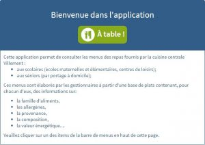 Application : A table !