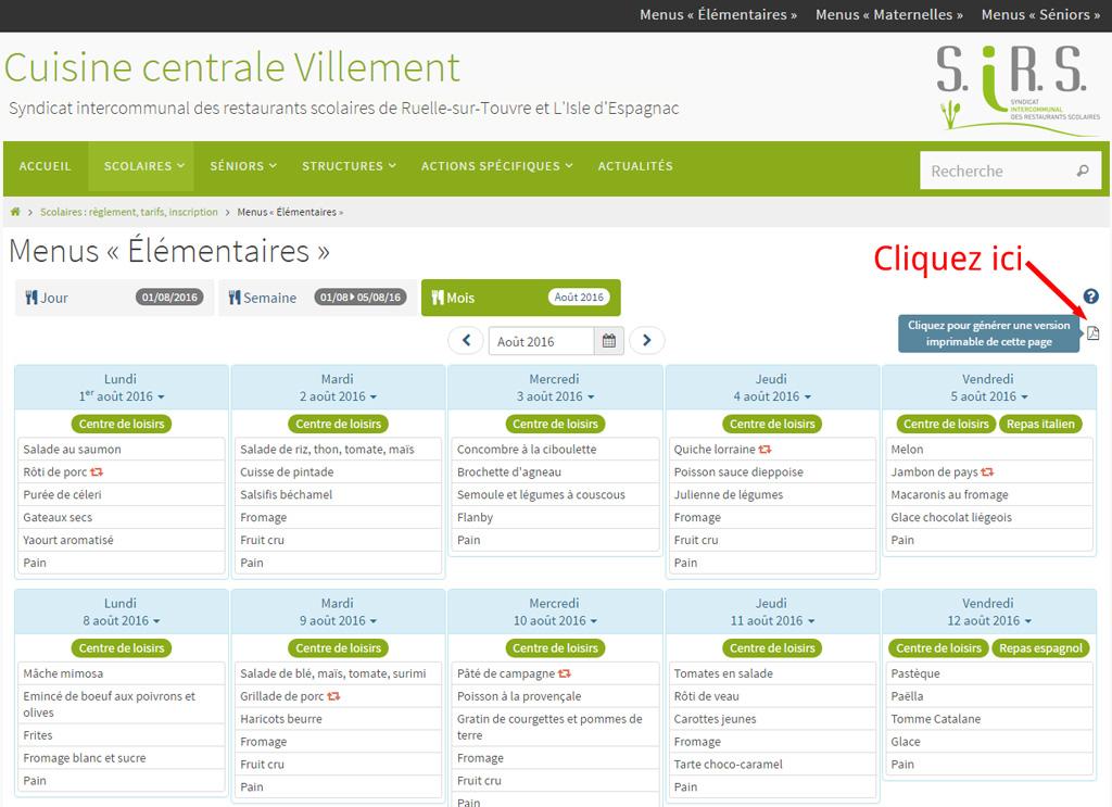 Gestion cuisine centrale villement - Logiciel gestion cuisine ...