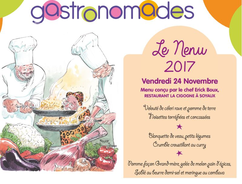 Menu des Gastronomades 2017