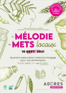 La mélodie des Mets Locaux 2021: affiche